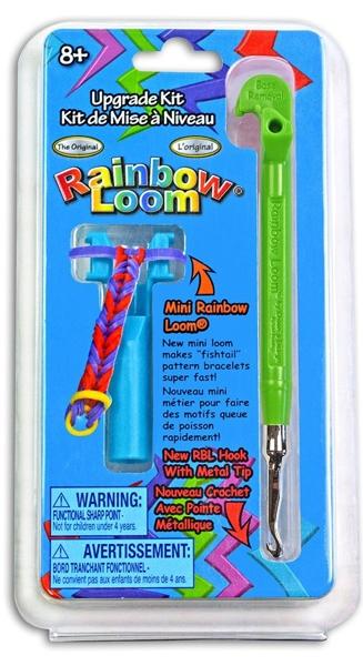 Набор для плетения украшений Rainbow Loom. Министанок с крючком, зеленый