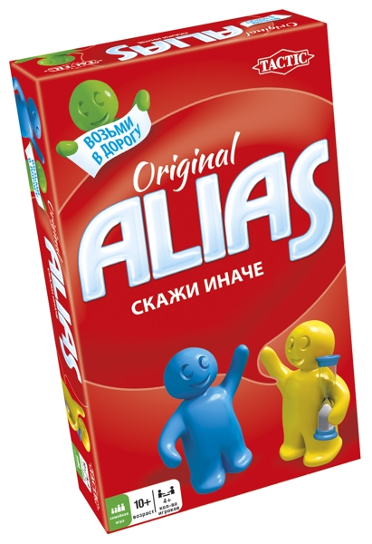 Настольная игра ALIAS. Скажи иначе. Компактная версия (2-е издание) настольная игра tactic games логическая скажи иначе компактная версия 2 53369