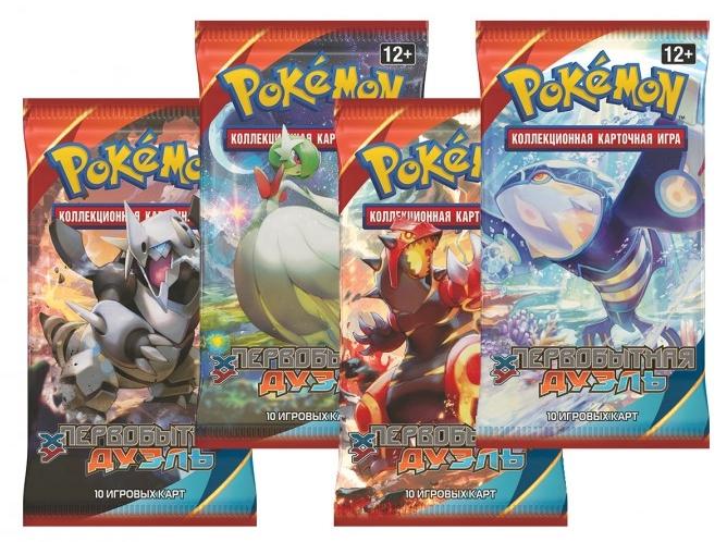 Коллекционная карточная игра Pokemon XY5. Первобытная дуэль. БустерКоллекционная карточная игра Pokemon впервые появилась в 1996 году и сразу же завоевала сердца игроков. С тех пор было продано более 21,5 миллиарда карточек в 74 странах.<br>