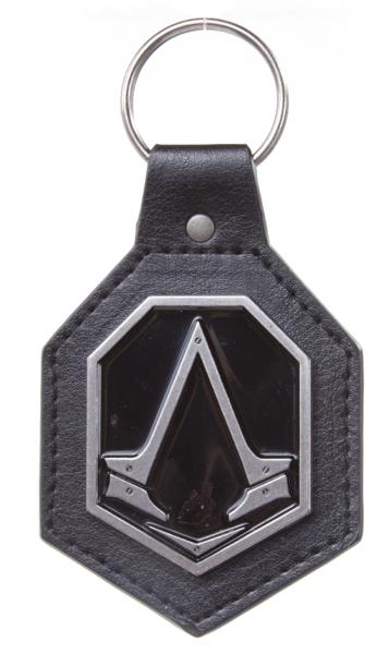 Брелок Assassin's Creed Syndicate. Металлический с подложкой