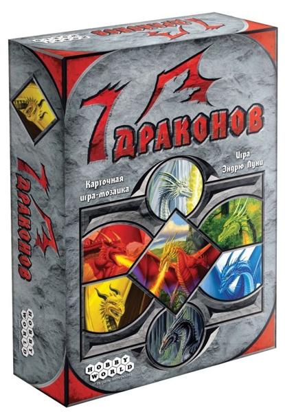 Настольная игра 7 ДраконовВ игре 7 Драконов вам предстоит выкладывать карточную мозаику из различных драконов – от красных и зелёных до зеркального и радужного.<br>