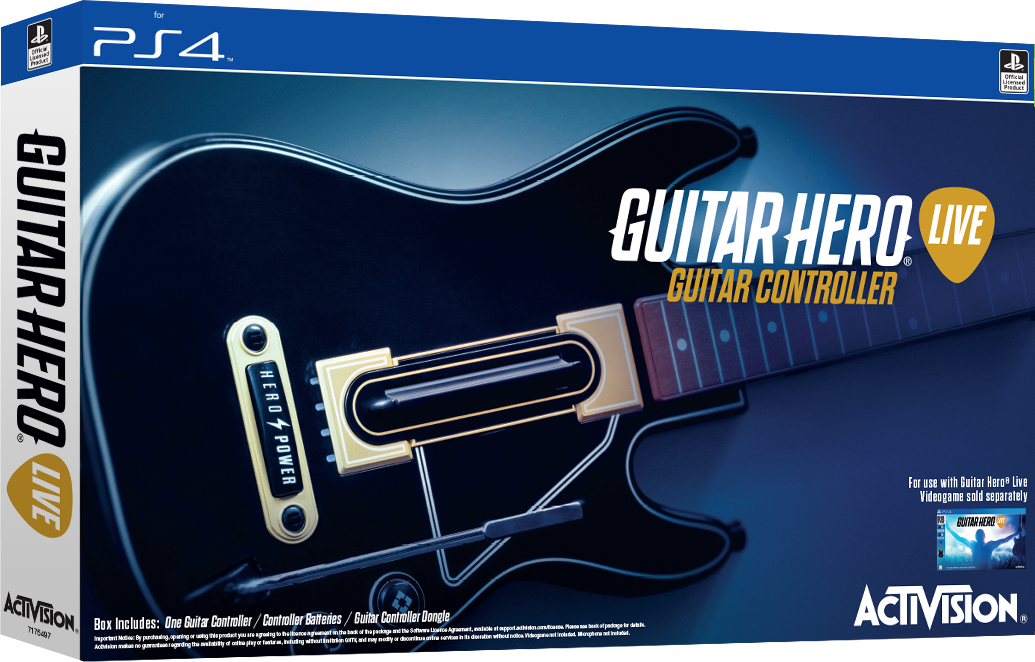 Guitar Hero Live. Контроллер Гитара [PS4]Контроллер Гитара предназначен для игры Guitar Hero Live, которая  представляет собой продолжение серии игр Guitar Hero, симуляторы игры на электрогитаре.<br>