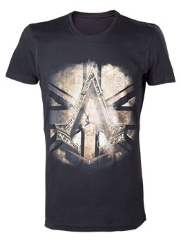 Футболка Assassins Creed Syndicate. Bronze Crest (черная) (XL)Представляем вашему вниманию футболку Assassins Creed Syndicate. Bronze Crest для настоящего фаната серии Assassins Creed!<br>