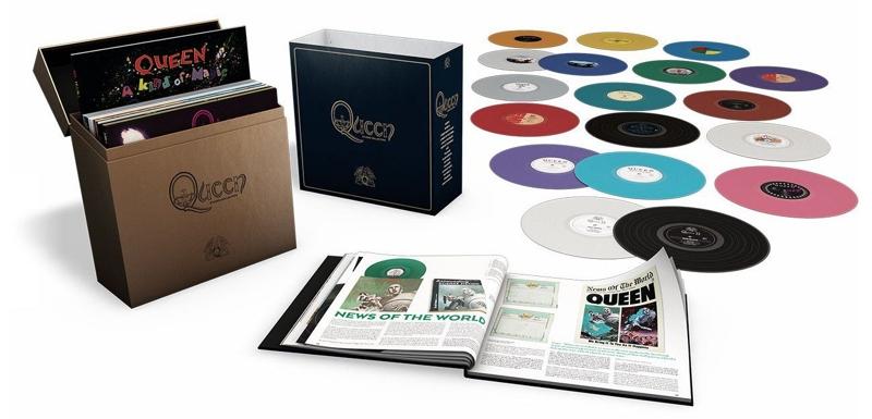 Queen. Studio Collection (18 LP)Queen. Studio Collection – переиздание полного собрания всех студийных альбомов легендарной группы. В боксе каждый винил имеет свой цвет в соответствии с оригинальными обложками.<br>