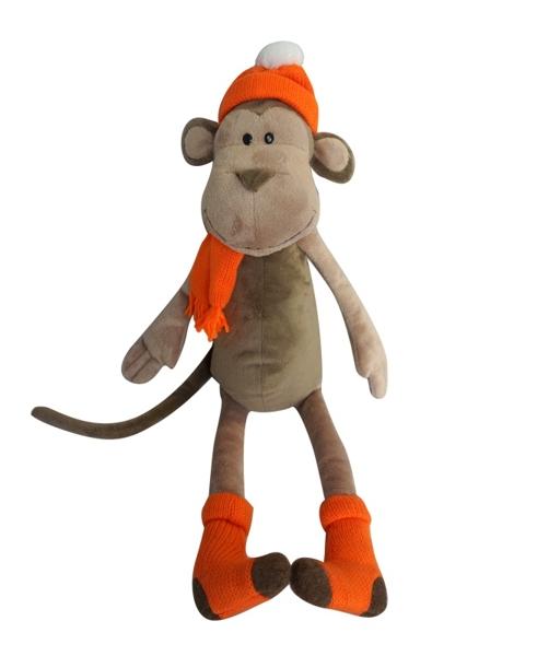 Мягкая игрушка Обезьянка Вика в носочках (23 см)Представляем вашему вниманию мягкую игрушку Обезьянка Вика в носочках, которая воплощает собой символ 2016 года!<br>