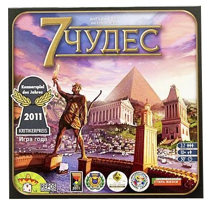 Настольная игра 7 чудес7 чудес – отличная стратегическая игра, неожиданно динамичная для игр такого класса.<br>