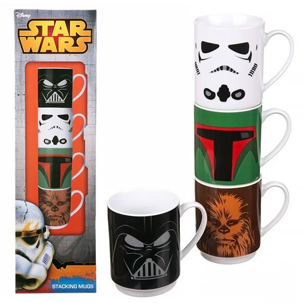 Набор кружек Star Wars. Darth Vader, Stormtrooper, Boba Fet, Chewbacca (280 мл)