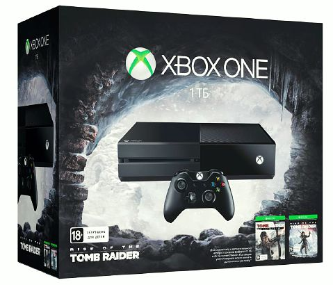Комплект Xbox One (1TB)  + игра Rise of the Tomb Raider + игра Tomb Raider. Definitive Edition от 1С Интерес