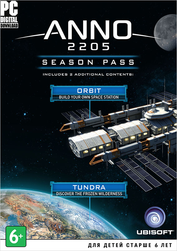 Anno 2205. Season Pass (Цифровая версия)Распространите влияние своей корпорации в двух новых секторах, используя новые технологические возможности и юнитов с Anno 2205. Season Pass!<br>