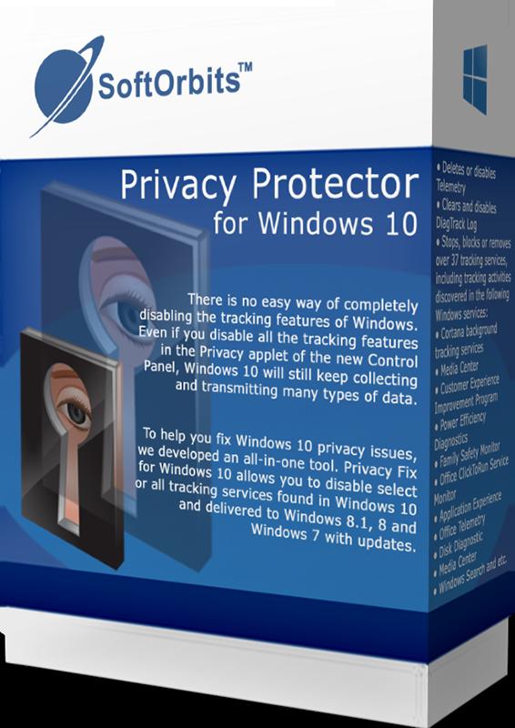 SoftOrbits Privacy Protector for Windows 10 (Отключение слежки для Windows 10) (Цифровая версия)