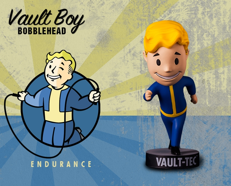 Фигурка Fallout Vault Boy. 111 Bobbleheads. Series One. Endurance (13 см) фигурка fallout 4 vault boy 111 bobbleheads series two explosives 13 см