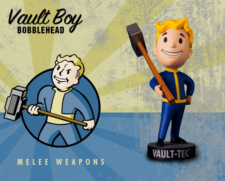 Фигурка Fallout Vault Boy. 111 Bobbleheads. Series One. Melee Weapons (13 см) военные игрушки для детей gaming heads 1 4