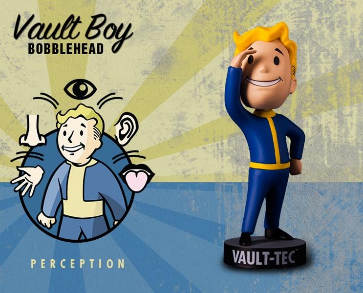 Фигурка Fallout Vault Boy. 111 Bobbleheads. Series One. Perception (13 см)Компания Gaming Heads рада представить новую серию коллекционных фигурок Vault Boy по мотивам компьютерной игры Fallout 4!<br>