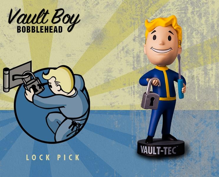 Фигурка Fallout Vault Boy. 111 Bobbleheads. Series One. Lock Pick (13 см)Компания Gaming Heads рада представить новую серию коллекционных фигурок Vault Boy по мотивам компьютерной игры Fallout 4!<br>