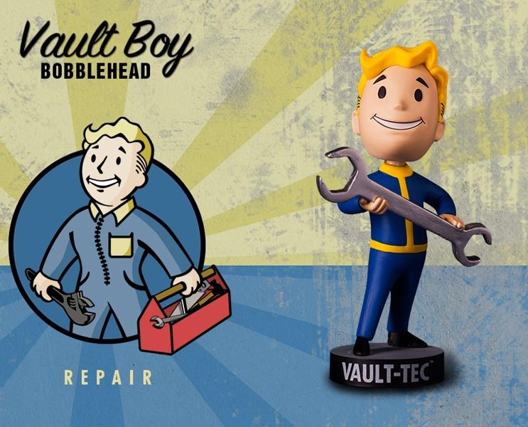 Фигурка Fallout Vault Boy. 111 Bobbleheads. Series One. Repair (13 см)Компания Gaming Heads рада представить новую серию коллекционных фигурок Vault Boy по мотивам компьютерной игры Fallout 4!<br>