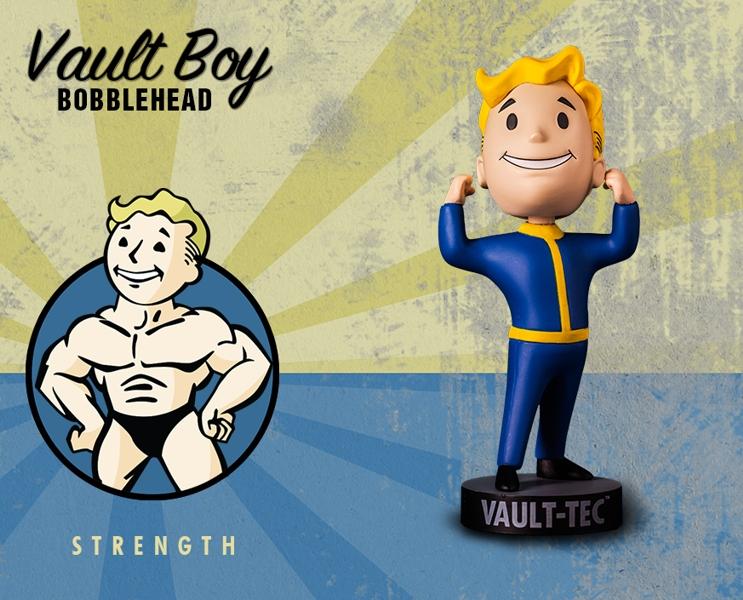 Фигурка Fallout Vault Boy. 111 Bobbleheads. Series One. Strength (13 см)Компания Gaming Heads рада представить новую серию коллекционных фигурок Vault Boy по мотивам компьютерной игры Fallout 4!<br>