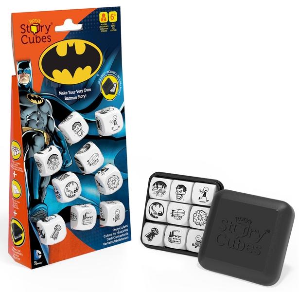Настольная игра Кубики историй DC Comics: БэтменКубики историй. Бэтмен – игра для поклонников Бэтмена и супер-героев. Сочини свою историю о Бэтмене, например, начав с фразы «На темных улицах Готэма…».<br>