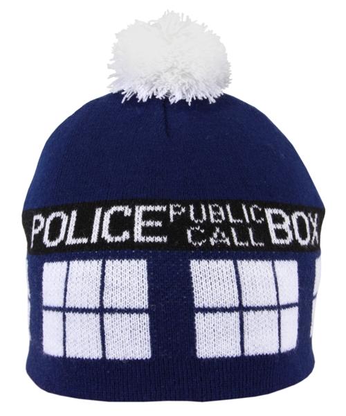 Шапка Doctor Who. С помпоном (синяя) от 1С Интерес