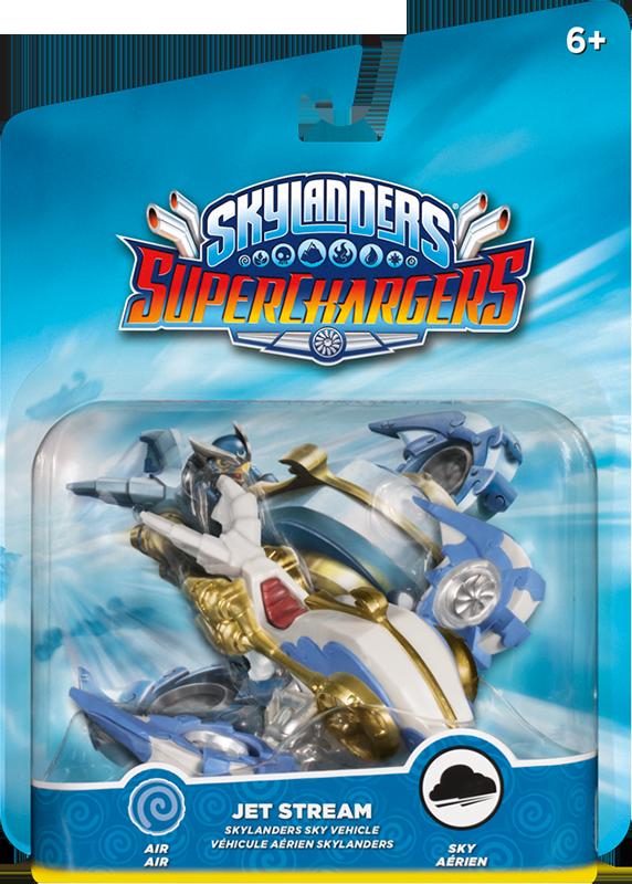 Skylanders SuperChargers. Интерактивная фигурка. Машины. Jet Stream (стихия Air)