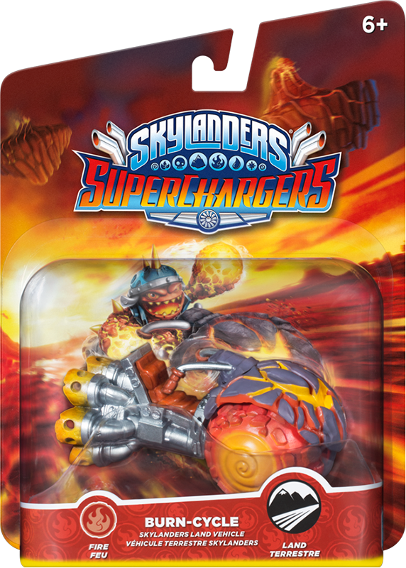 Skylanders SuperChargers. Интерактивная фигурка. Машины. Burn Cycle (стихия Fire) skylanders superchargers интерактивная фигурка суперзаряд big bubble pop fizz стихия magic