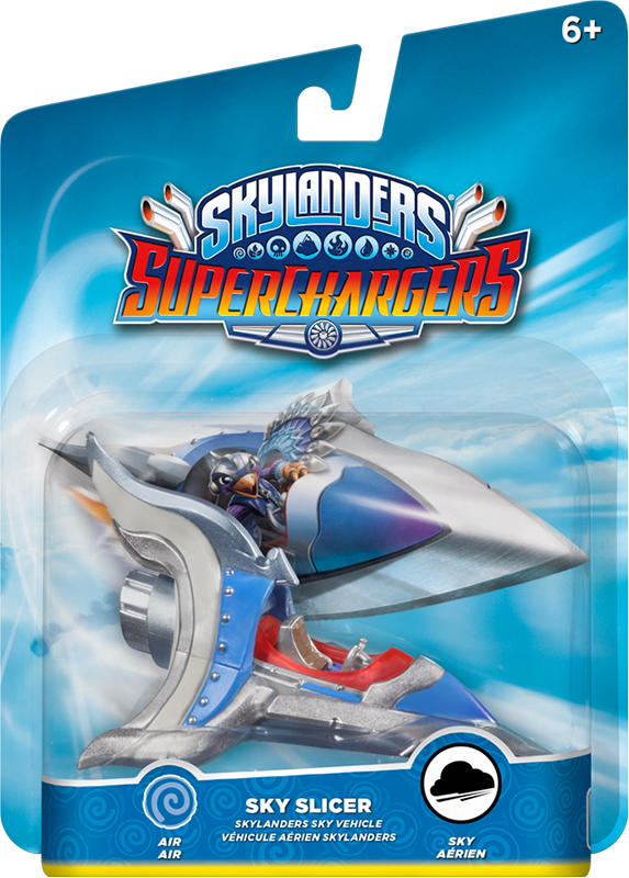 Skylanders SuperChargers. Интерактивная фигурка. Машины. Sky Slicer (стихия Air) skylanders superchargers интерактивная фигурка машины shark tank стихия earth