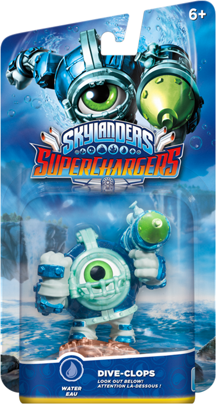 все цены на  Skylanders SuperChargers. Интерактивная фигурка. Суперзаряд. Dive-Clops (стихия Water)  онлайн