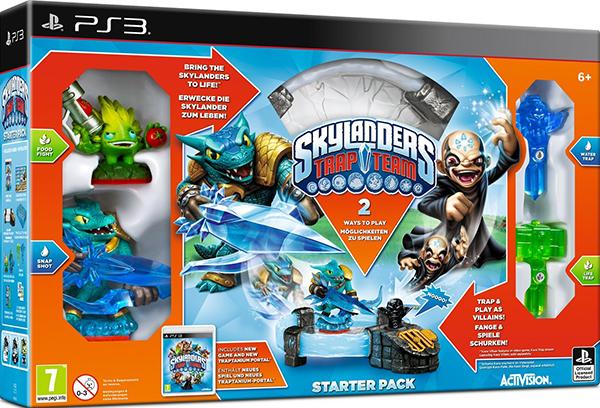 Skylanders Trap Team. Стартовый набор [PS3]Раньше игрушки оживали в фантастическом мире, теперь процесс повернулся в обратную сторону &amp;ndash; дети смогут перенести существ из Скайлендсав нашу реальность вместе с Skylanders Trap Team!<br>