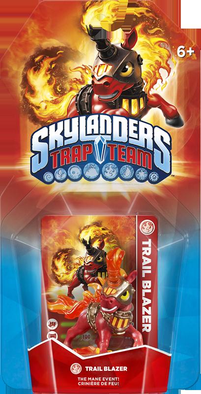 Skylanders Trap Team. Интерактивная фигурка Trail Blazer (стихия Fire) activision skylanders trap team knight mare