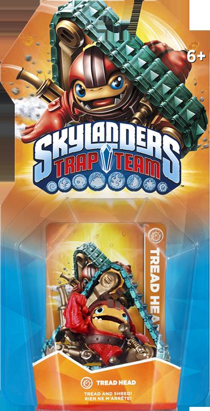 Skylanders Trap Team. Интерактивная фигурка Tread Head (стихия Tech) skylanders trap team интерактивная фигурка мастер ловушек jawbreaker стихия tech