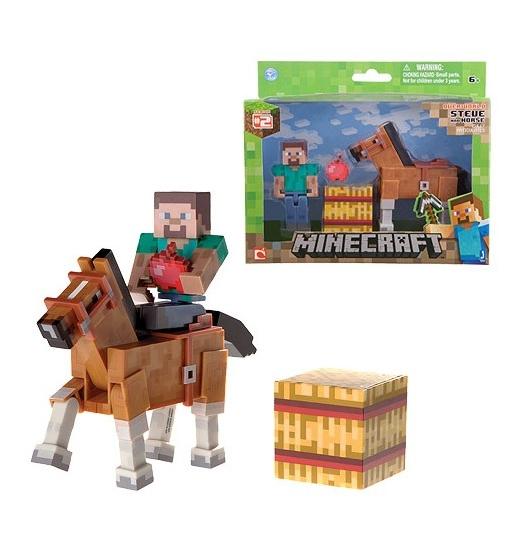 Набор фигурок Minecraft. Steve With Chestnut Horse. 2 в 1 (8 см)Представляем вашему вниманию набор фигурок Minecraft. Steve With Chestnut Horse. 2 в 1, созданный по мотивам популярной компьютерной игры.<br>