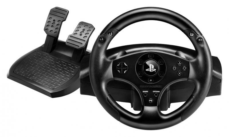 Гоночный руль Thrustmaster T80 Racing Wheel для PS4 / PS3Гоночный руль Thrustmaster T80 Racing Wheel – первая рулевая система для гоночных игр для PlayStation 4! Продукт произведен по официальной лицензии PlayStation и гарантирует 100% совместимость функций игр и меню консоли с официальными кнопками PS, Share и Options.<br>