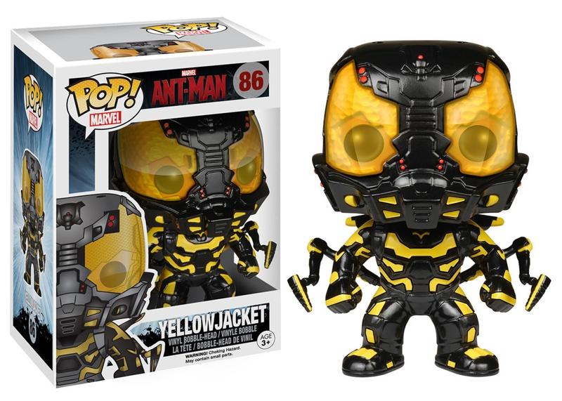 Фигурка Ant-Man. Ant-Man Yellow Jacket POP MarvelПредставляем вашему вниманию фигурку Ant-Man. Ant-Man Yellow Jacket POP Marvel, созданную по мотивам американского супергеройского фильма «Человек-муравей».<br>