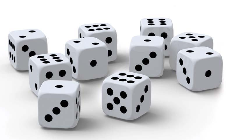 Набор игральных кубиковПредставляем вашему вниманию набор игральных кубиков – это десять пластиковых кубиков в картонной упаковке.<br>