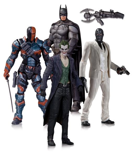 Набор фигурок Batman Arkham Origins. 4 в 1 (17 см) neca dc comics batman arkham origins super hero 1 4 scale action figure