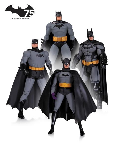 Набор фигурок Batman. 75th Anniversary №1. 4 в 1 (17 см)Представляем вашему вниманию набор фигурок Batman. 75th Anniversary №1. 4 в 1, специальное коллекционное издание выпущено ограниченным тиражом к 75-летию Бэтмена.<br>