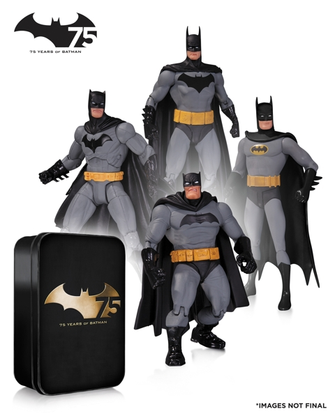 Набор фигурок Batman. 75th Anniversary №2. 4 в 1 (17 см) archie giant comics 75th anniversary book