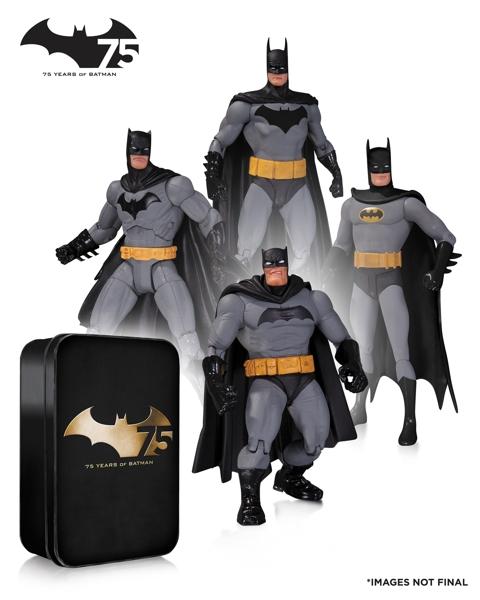 Набор фигурок Batman. 75th Anniversary №2. 4 в 1 (17 см)Представляем вашему вниманию набор фигурок Batman. 75th Anniversary №2. 4 в 1, специальное коллекционное издание выпущено ограниченным тиражом к 75-летию Бэтмена.<br>