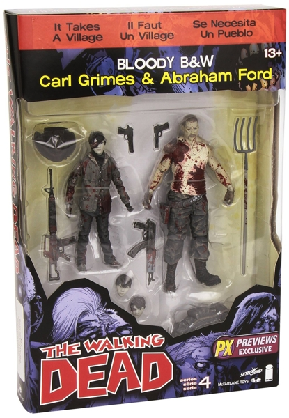 Набор фигурок Walking Dead. Carl/Abraham. 2 в 1 (17 см) набор фигурок the walking dead 4 в 1 8 см