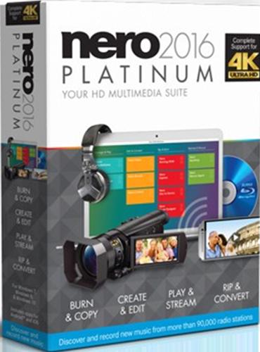 цена на Nero 2016 Platinum (Цифровая версия)