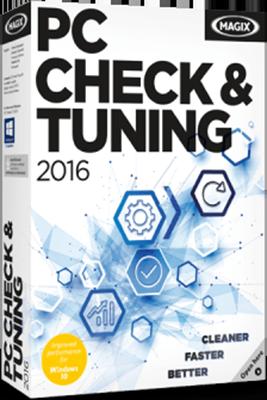 MAGIX Check &amp; Tuning 2016 (Цифровая версия)MAGIX PC Check &amp;amp; Tuning 2016 содержит все необходимые функции для того, чтобы сделать ваш компьютер быстрее и производительнее. Программа автоматически распознает проблемные места и быстро и эффективно устраняет причины возникновения проблем.<br>