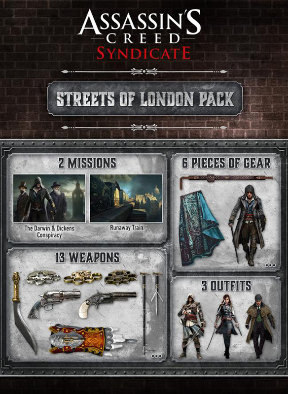 Assassin's Creed: Синдикат. Улицы Лондона (Streets of London Pack). Дополнение