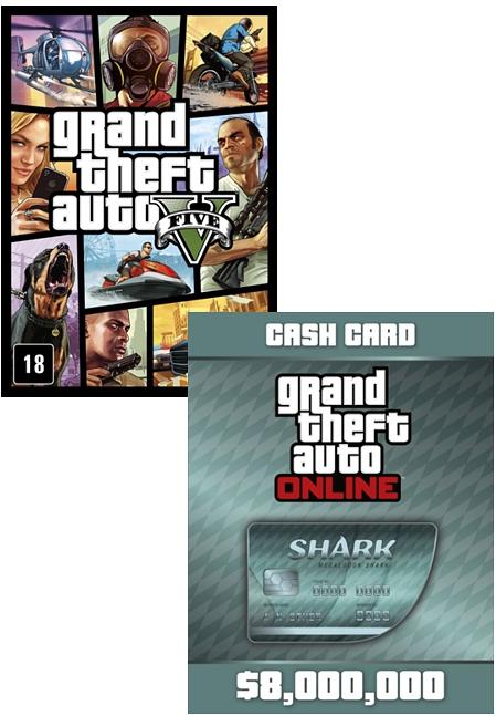 Grand Theft Auto V (GTA 5) + платежная карта Megalodon Shark Cash Card (Цифровая версия)В Grand Theft Auto V поклонников ждет не просто самый огромный и детализированный мир из когда-либо создававшихся Rockstar Games, но и возможность влиять на жизнь и поступки сразу трех главных героев.<br>