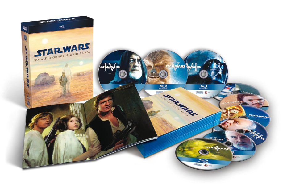 Звездные войны. Сага. Переиздание (9 Blu-ray) Star Wars: The Phantom Menace / Attack of the Clones / Revenge of the Sith / A New Hope / The Empire Strikes Back / Return of the Jedi