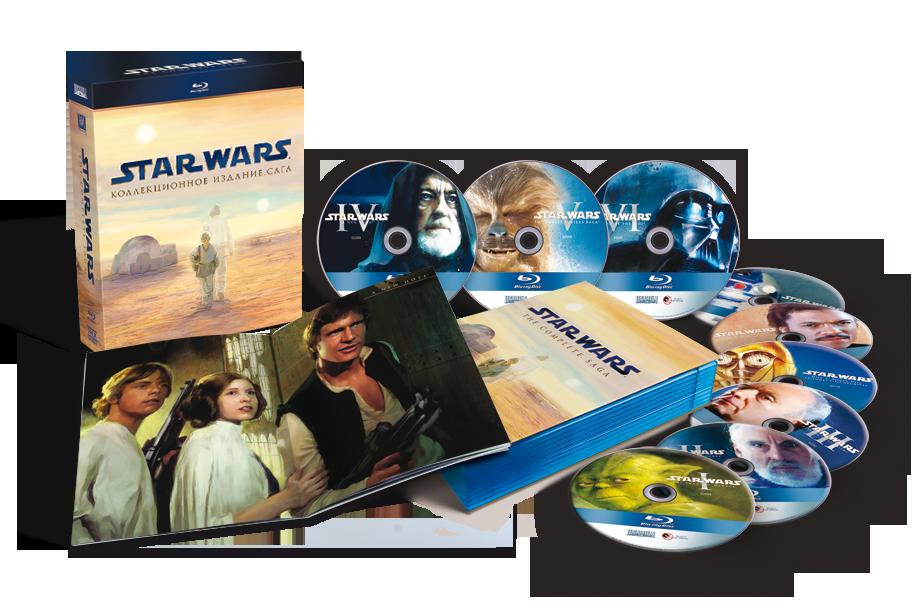 Звездные войны. Сага. Переиздание (9Blu-ray) Star Wars: The Phantom Menace / Attack of the Clones / Revenge of the Sith / A New Hope / The Empire Strikes Back / Return of the Jedi
