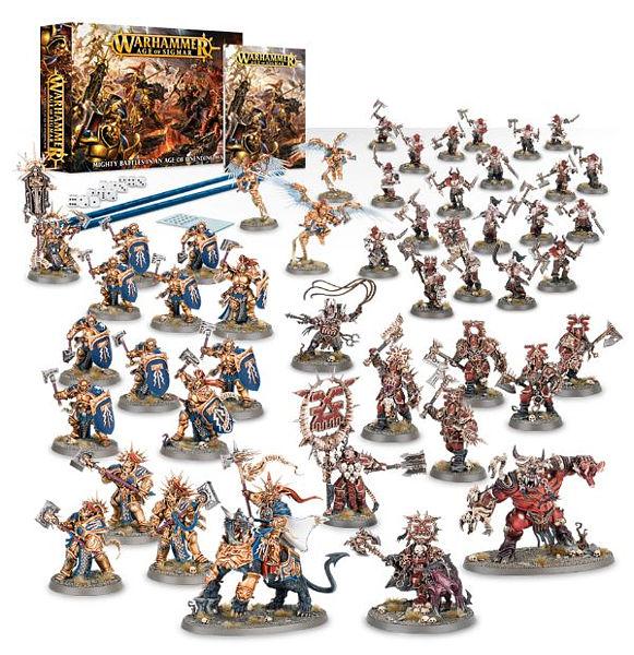 Warhammer. Набор миниатюр Age of Sigmar Starter SetНабор миниатюр Age of Sigmar Starter Set – фантастический набор для всех фанатов вселенной Warhammer! Эта коробка содержит все необходимое для того, чтобы начать ваши приключения в Эре Сигмара.<br>
