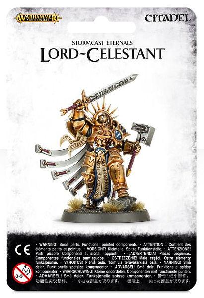 Warhammer. Миниатюра Stromcast Eternals Lord-Celestant военная миниатюра атакующий английский рыцарь на коне