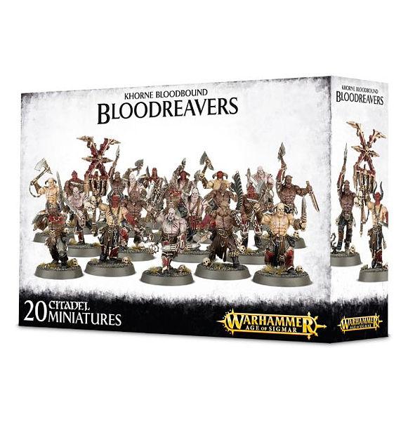 Warhammer. Набор миниатюр Khorne Bloodbound BloodreaversНабор миниатюр Khorne Bloodbound Bloodreavers включает детали для сборки двадцати миниатюр, которые можно вооружить Разбойничьими Топорами или Мясными Тесаками.<br>