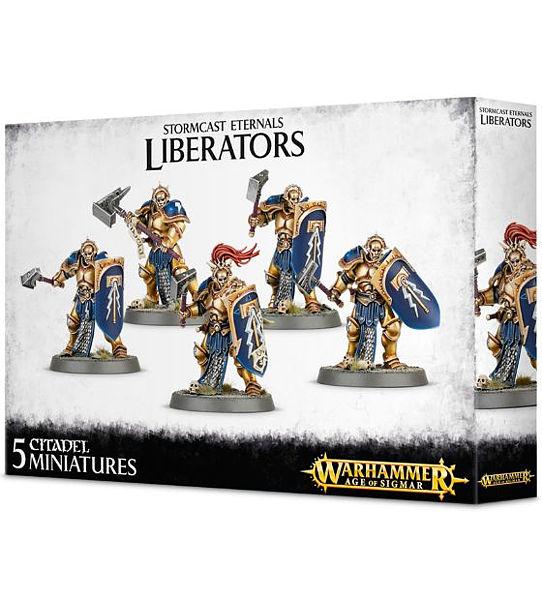 Warhammer. Набор миниатюр Stormcast Eternals LiberatorsПредставляем вашему вниманию набор миниатюр Stormcast Eternals Liberators, созданный по мотивам игры Warhammer.<br>