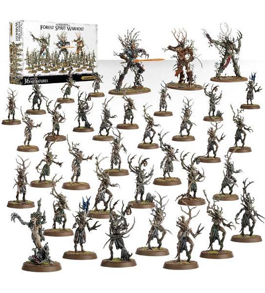Warhammer. Набор миниатюр Sylvaneth Forest Spirit WarhostПредставляем вашему вниманию набор миниатюр Sylvaneth Forest Spirit Warhost, созданную по мотивам игры Warhammer.<br>