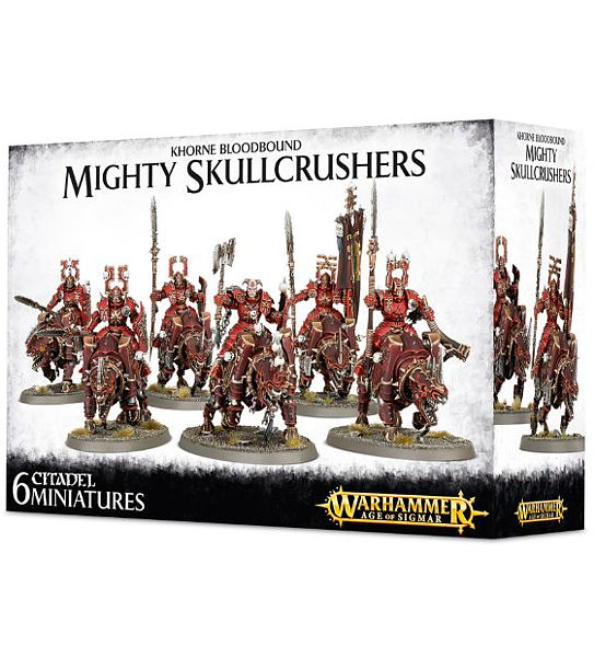 Warhammer. Набор Khorne Bloodbound Mighty SkullcrushersНовый набор Warhammer Khorne Bloodbound Mighty Skullcrushers, созданный по мотивам игры Warhammer.<br>